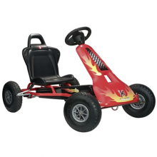 Kids Red Flame Ferbedo Air Runner Pedal Go Kart