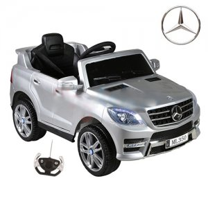 Silver 12v Mercedes ML350 Kids Jeep with Remote