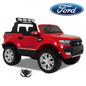 Red Ford Ranger 12v 4WD Ride On Jeep with Touchscreen