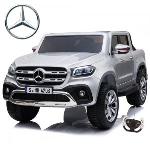 White Licensed 4WD Mercedes X-Class 24v Kids Electric Jeep