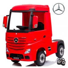 Red Mercedes Actros Licensed 24v Electric Ride On Kids Lorry