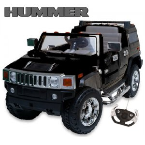 12v Large Licensed Ride-On Hummer Jeep with Remote