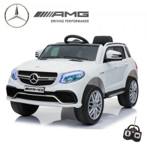 Official 12v Mercedes GLE63 Kids Ice White Ride On Jeep