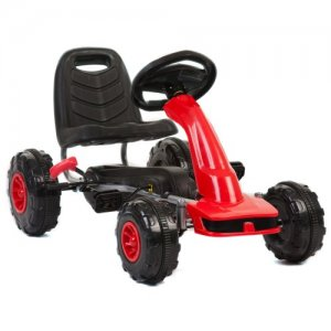 Bright Red Sleek Off Road Pedal Racing Go Kart