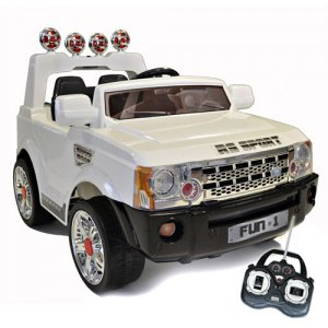 12v White Range Rover Sports Style Ride-On Jeep