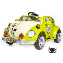 12v Retro VW Beetle Style Green Ride On Kids Car
