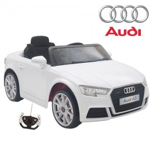 Kids Official White Audi A3 Quattro Electric Car