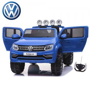 12v Volkswagen Amarok EVA Wheel Leather Seat Kids Blue Jeep