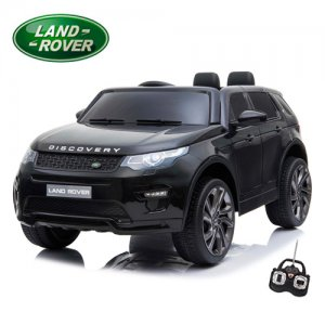 Kids 12v Black Official Land Rover Discovery Jeep with Remote