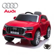 12V Official Red Audi Q8 Kids Electric Ride On SUV with remote