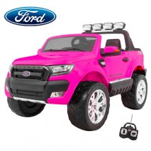 Pink 24v Two Seat 2020 Ford Ranger with EVA & 4WD RideOn Pink up