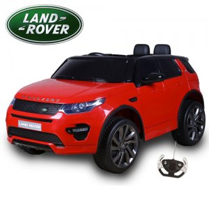 Kids 12v Red Licensed Land Rover Discovery Ride On Jeep