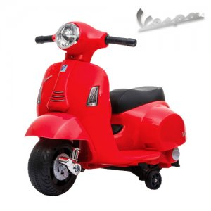 Red 6v Ride on Official kids Vespa sit on Motorbike