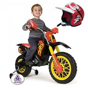 Orange 6v Injusa Scrambler Ride-on Motor Bike