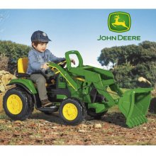 12v John Deere Ride on Tractor Ground Loader with Radio