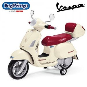 Licensed Vespa 12v Kids Retro Moped Moped