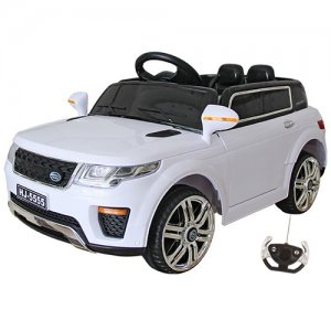 Kids White Urban Mini 12v Ride On SUV with Doors & Remote