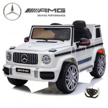 Official 12v 2019 Kids White Mercedes G63 Ride On Electric Jeep