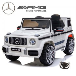 Official 12v 2020 Kids White Mercedes G63 Ride On Electric Jeep