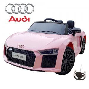 12v Pink Audi R8 Spyder Official Opening Door Ride On Car