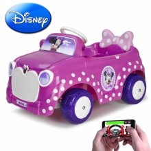 Minnie Mouse 6v Disney Car with Smartphone Remote