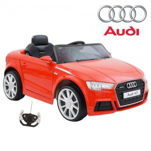 Kids Licensed Red 12v Audi A3 Quattro with Remote