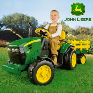 John Deere 12v Ground Force Tractor & Trailer by Peg Perego