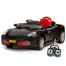 Black Ferrari Style 6v Ride-On Sports Car