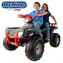 Peg Perego Premium 2 Seater 24v Kids Quad Bike
