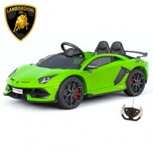 Kids Green Lamborghini Aventador SVJ 12v Official Wide Seat Car