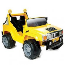 Kids 12v 2 Seat Electric Hummer Jeep [Yellow]