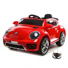 12v Red Ride On VW Beetle Style Electric Car with Remote