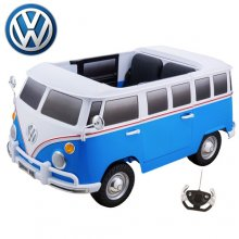 Kids Blue Two Seat Large Licensed VW 12v Ride On Camper Van