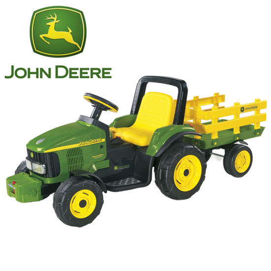 6 volt john deere electric ride on tractor trailer