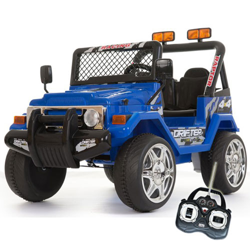 12v Blue Two Seater Off Road Kids Electric Jeep - Click Image to Close
