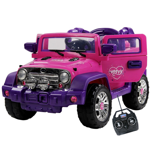 Girls Pink Jeep Ride With Opening Doors Remote