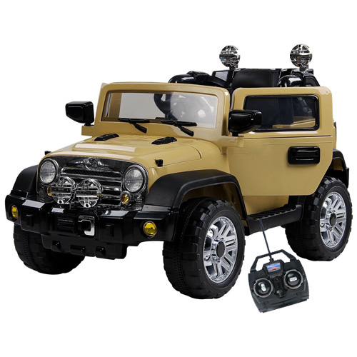 12v Jeep Style Ride on with Suspension, Doors, MP3 & Remote - Click Image to Close