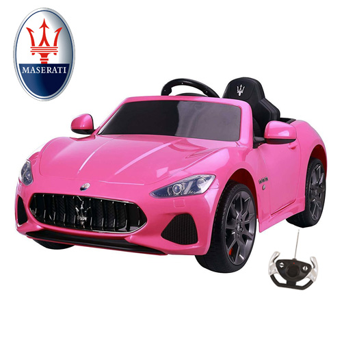 12v Kids Official Pink Maserati Gran Cabrio Ride On Car - Click Image to Close