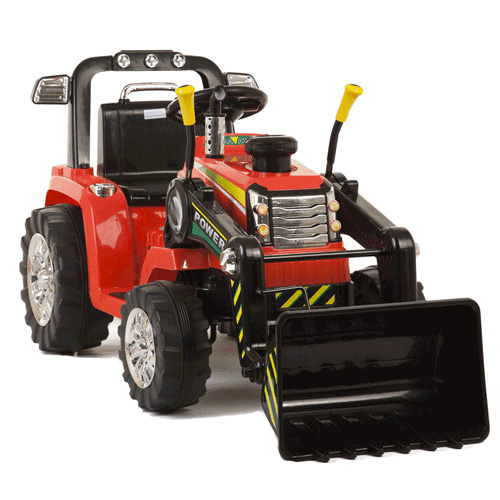 12v Battery Ride On Tractor With Loader Bucket - Click Image to Close