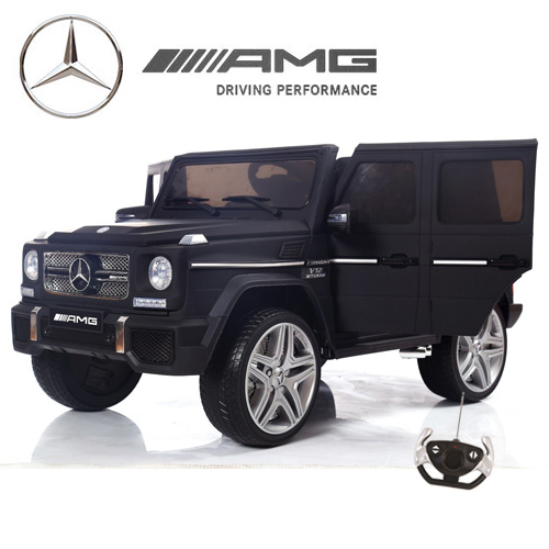 12v Matte Black G-65 Mercedes Ultimate Edition Kids Ride On Jeep - Click Image to Close
