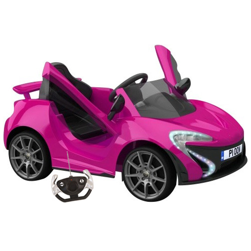Pink Girls Neon Lights Supercar With Remote Kids