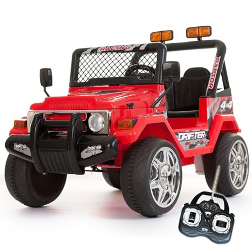 12v Red Two Seater Off Road Kids Electric Jeep - £169.99 ...