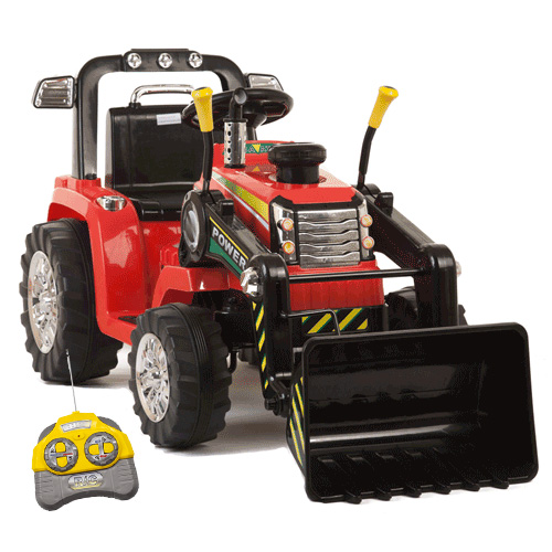 12v Battery Ride On Tractor With Loader Bucket & Remote Control - Click Image to Close