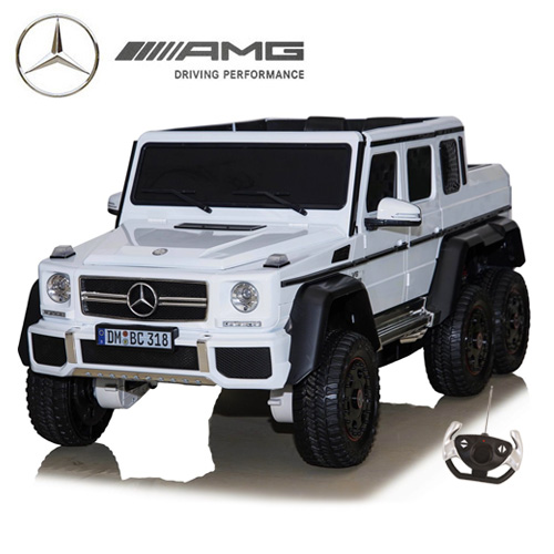 24v Official White 6x6 Mercedes Kids Ride On SUV with Remote - Click Image to Close