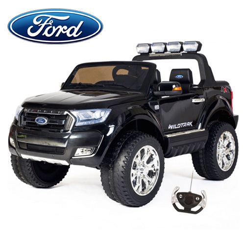 2019 Black 2 Seat 4 Motor Kids 24v Ford Ranger with EVA Tyres - Click Image to Close