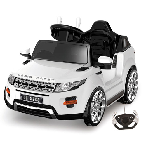 6v Battery Powered Sit-In Micro Evoque Style Jeep with Remote - Click Image to Close