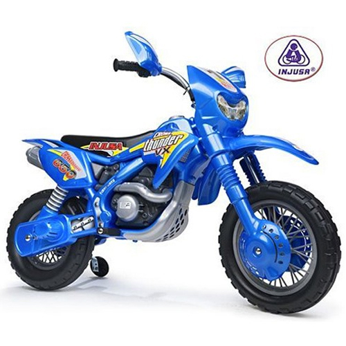 6v Blue Moto Scrambler Kids Ride On Motorbike - Click Image to Close