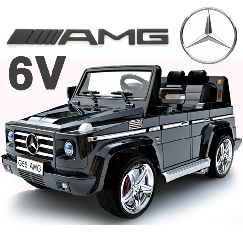 Official Mercedes G55 6v Kids Jeep with Parental Remote - Click Image to Close