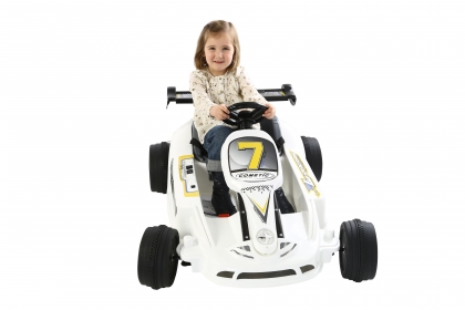 6v Twin Motor Electric Ride-On Go Kart for Kids - Click Image to Close