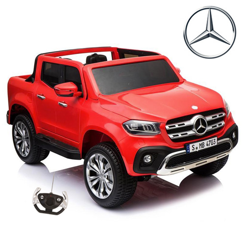 Kids Red Large Two Seat 12v Mercedes X-Class Electric Jeep - Click Image to Close